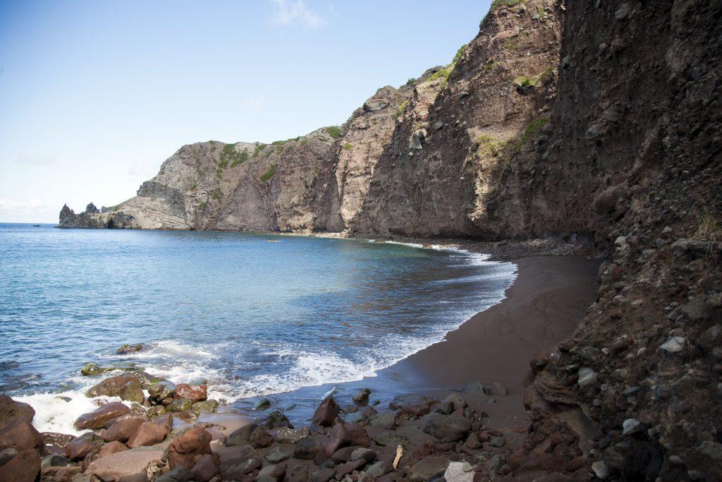 Brilliant Black Sand Beaches in the Caribbean - Wells Bay, Saba