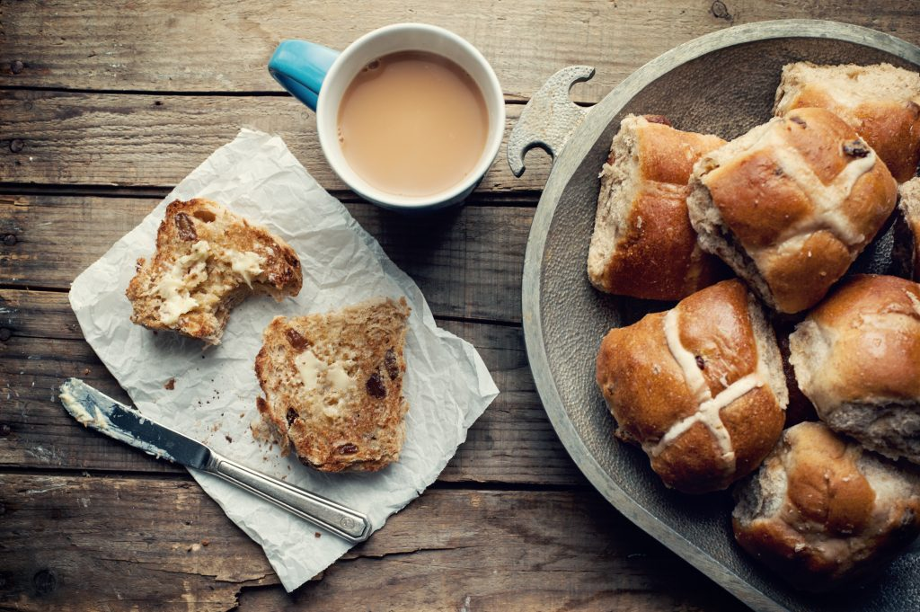 easter in the caribbean - hot cross buns